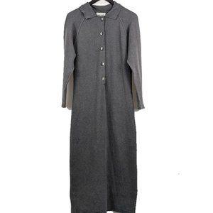 VINTAGE 1990s Grey Stretch Dress Size S/M